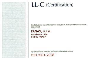 Fanas - ISO 9001:2008